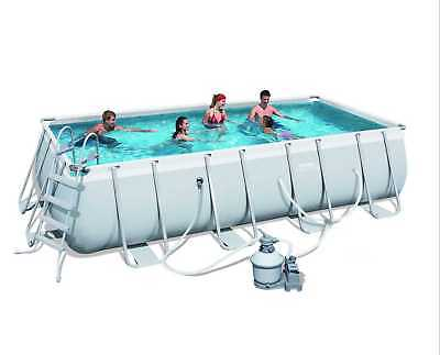 "Bestway Steel  FrameAbove Ground Swimming Pool 5.49m 18'x9'x48"" with Sand Filter"