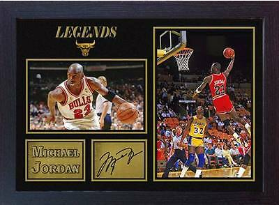 Michael Jordan NBA signed autograph Basketball Memorabilia Chicago Bulls Framed