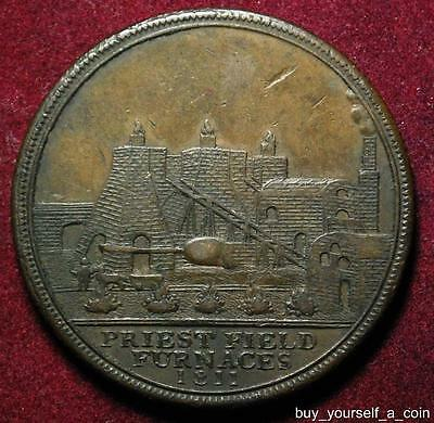 Bilston Staffordshire Samuel Fereday penny token 1811 Furnaces - Withers 51