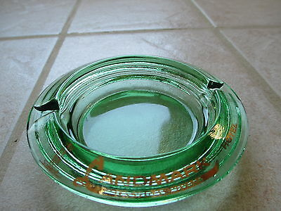 Vintage Las Vegas Landmark Hotel Casino Ashtray green glass