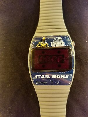 Vintage Star Wars Digital Watch Texas Instruments 1977