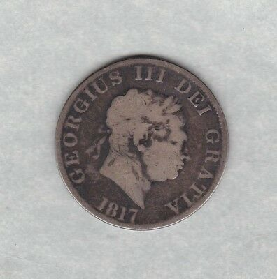 1817 George Iii Silver Halfcrown In Fine Or Better Condition