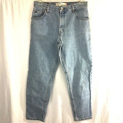 Levis Jeans Womens Size 12 M Relaxed Tapered 550 Light Wash Blue Mom Denim