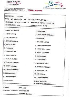 St Neots Town V Peterborough United 2014/15 Friendly (25Th March)