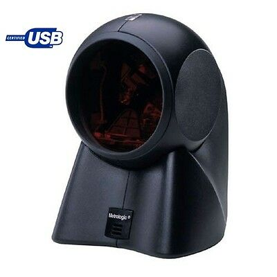 Black Metrologic MS7120 Orbit USB Powered OMNI Barcode Scanner with USB Cable