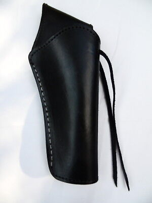 """Cross Draw Western Holster- DeLuxe -  Right - 6"""" Barrel - Black - Smooth Leather"""