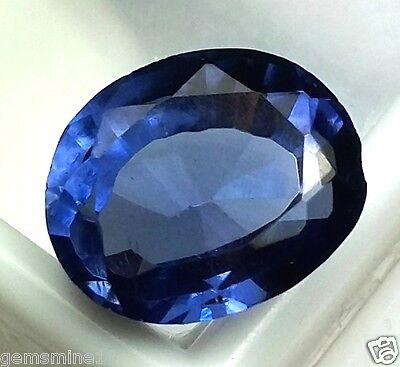 11.00 CT Lab Created Blue Sapphire GOOD Quality Oval Shaped Wonderful Gem 730