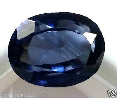 6.45 CT Lab Created Blue Sapphire AAA+ GOOD Quality Oval Shaped Awesome Gem 742