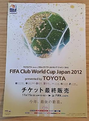 2012 FIFA Club World Cup A4 poster/flyer - Chelsea, Corinthians etc.