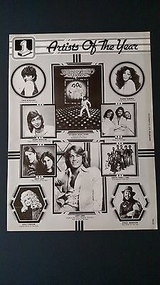 """The Bee Gees """"disco Artist Of The Year""""  '78 Rare Original Print Promo Poster Ad"""