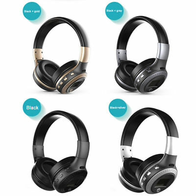 B19 Wireless Cordless FM Stereo Headphone Bluetooth Headset With Mic for PC TV