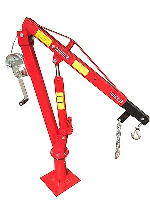 1000/2000# DAVIT CRANE & WINCH truck jib pwc lb engine cherry picker shop hoist