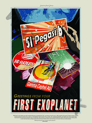Nasa Poster Space Exploration Travel Advert First Exoplanet Art Print Hp3827
