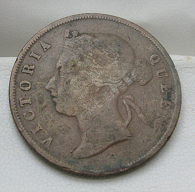 1897 Straights Settlements 1 Cent Victoria