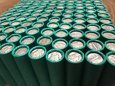 Unsearched Bank Rolls Old Coins Mercury Dimes S-Mint Lots Wheat Pennies Us Sets!