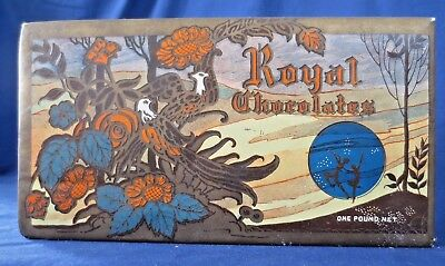 Vintage ROYAL CHOCOLATES BOX - Collectible 1 Pound Colorful Cardboard Container