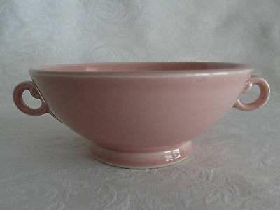 Rare LuRay TS&T  Footed Cream Soup Bowl Handles -  Sharon Pink  PERFECT