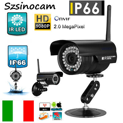 Telecamera Ip Camera Hd 1080P Wireless Ir Cam Lan Wan Motorizzata Wifi Rete Cctv