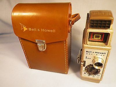 Bell & Howell 8mm One-Nine Camera with Leather Carry Case For Parts