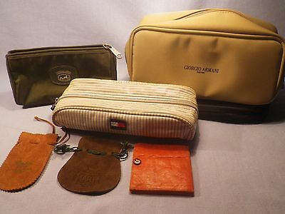 Armani, Hermes, Hilfiger and other small bags & pouches Lot Lots of Pics!