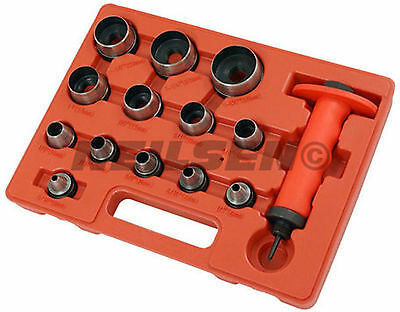 14Pc Hollow Punch Set For Cutting Rubber Plastic Leather Quality Tool Kit
