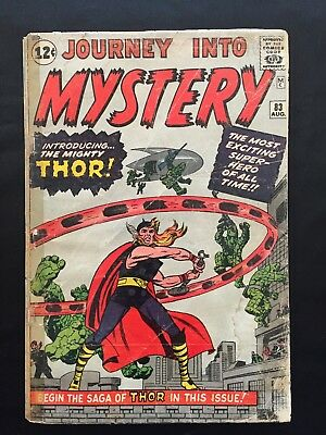 Journey into Mystery #83 (1962, Marvel) The origin & 1st  appearance of Thor.