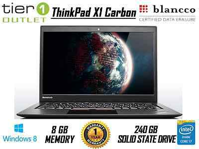 Lenovo ThinkPad X1 Carbon - Core i5-4300U 240GB SSD Pro Ultrabook Win 8.1 Laptop