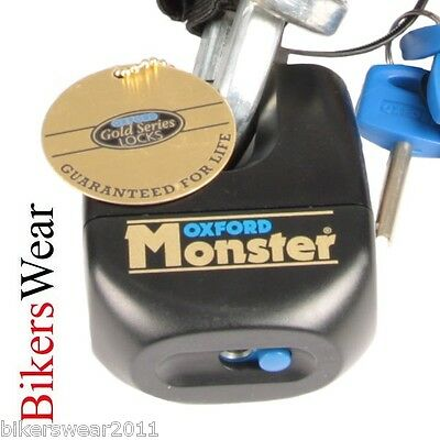 OXFORD Monster Padlock Only Ultra Strong Motorcycle Security Disc Lock