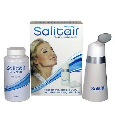 Salitair Plus Additional Salt Therapy Inhaler for Asthma and Allergies NEW