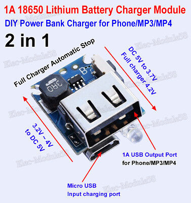 2in1 charge discharge board module F 18650 lithium battery DIY Power Phone Bank
