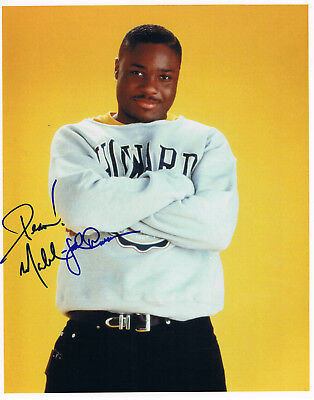 """Malcolm Jamal Warner 1970- autograph 8""""x10"""" photo signed """"THEO"""" The Cosby Show"""