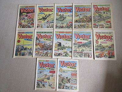VICTOR COMICS X 12  FROM 1978,  Good condition/ WARLORD- Job Lot