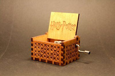 Harry Potter Hand Engraved Wooden Music Box Theme Song Great Gift - Usa Seller