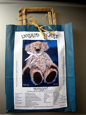 Neuf Kit Ours Nounours A Coudre Teddy Bear 18,5 Cm, Margot 2   Mohair