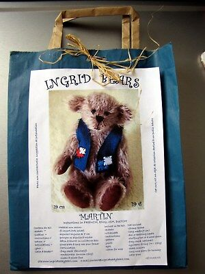 Neuf Kit Ours Nounours A Coudre Teddy Bear 19 Cm, Martin . Mohair