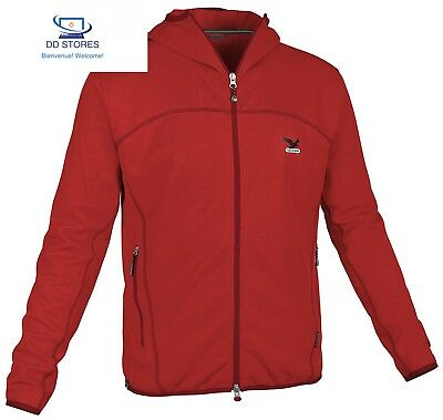 SALEWA, Pullover Uomo Surya Pl M Giacca, Rosso (Red/1700), L