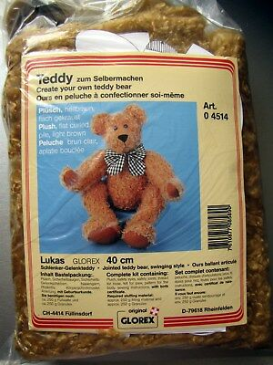 Neuf Kit Ours Nounours A Coudre Teddy Bear 40 Cm, Lukas. Glorex