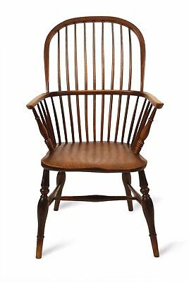 1795 Colonial Federal Furniture Antique Chair Bow Back Double Windsor Armchair