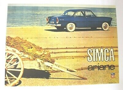 Affiche Ancienne Originale Simca Ariane Versaille Marly Trianon Chambord