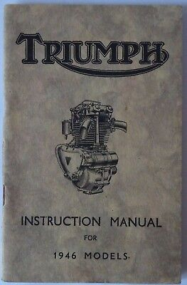 Instruction Manual for the Triumph 1946 Models