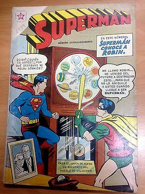 Comic Novaro Superman Numero Extraordinario 1 Julio 1959 Extra De 100 Paginas