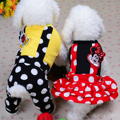 Cartoon Design Dog Clothes Jumpsuit Small Pet Cat Apparel Puppy Dress Costume