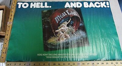 Rock & Roll Concert Poster Meat Loaf To Hell And Back