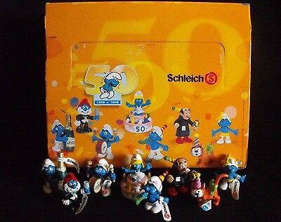 "Smurf Complete 50th Anniversary Set ~ ""MINT"" ~ Peyo ~ Schleich ~ 2008 ~ Germany"