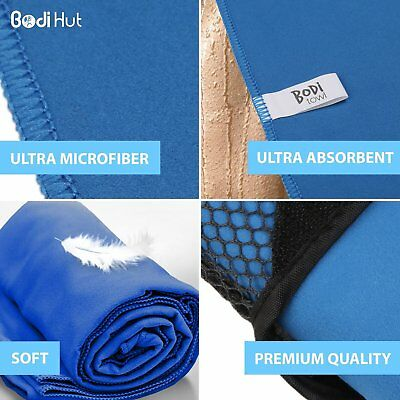 Quick Dry Sports + Travel Towel – Lightweight – Highly Absorbent – Compact – Sof