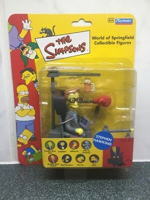 UK RARE Exclusive The Simpsons Dr Stephen Hawking WOS Vivid Imaginations Figure