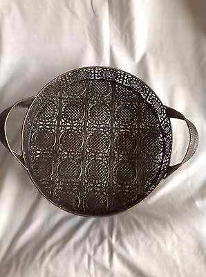 Metal morrocan style serving tray large size