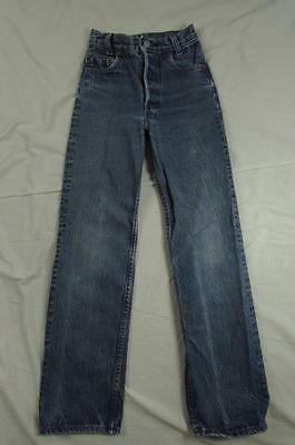 Vtg 80s USA Made Levi 401 Button Fly Denim Jeans Tag 21x26 Measure 19.5x25.5 501