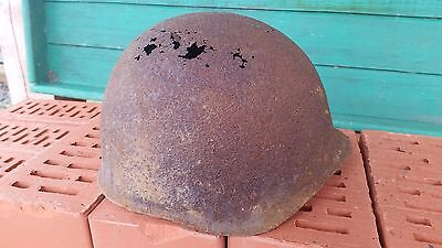 WWII WW2 Original Russian Helmet SSH-40 Damaged