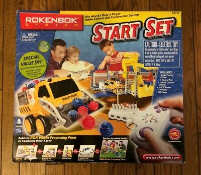 Rare New Rokenbok System Start Set Remote Radio Control Construction Set #34111